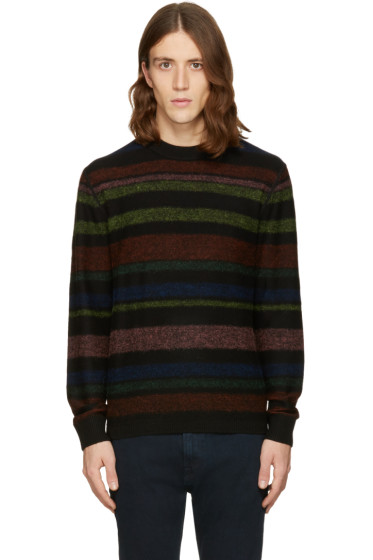PS by Paul Smith - Black Striped Merino Pullover
