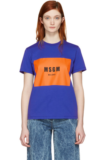 MSGM - Blue Logo T-Shirt