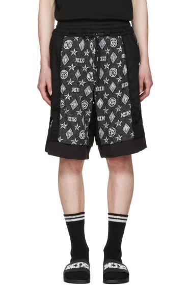 KTZ - Black Inside Out Monogram Shorts