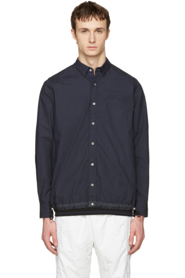 Sacai - Navy Typewriter Pattern Shirt
