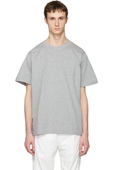 Sacai - Grey Cotton T-Shirt