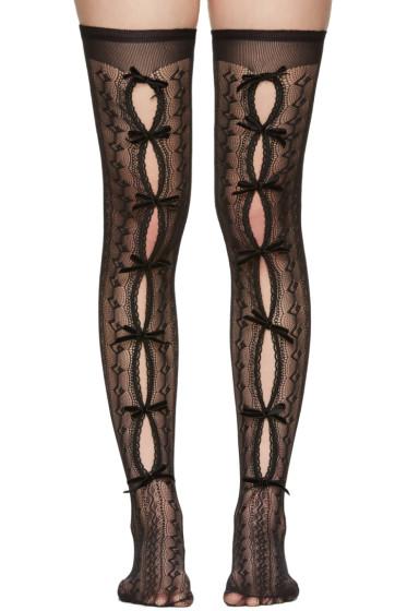 Gucci - Black Moulinoir Bow Socks