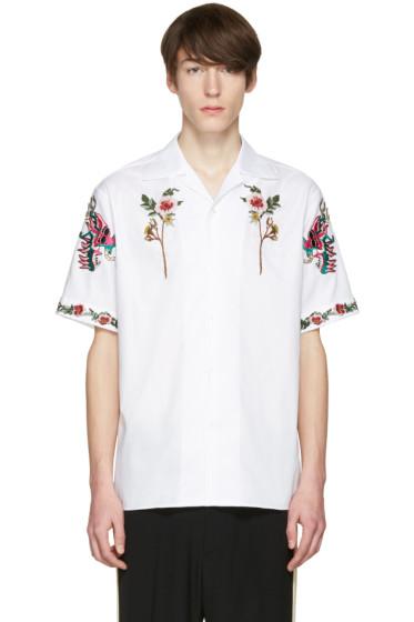 Gucci - White Floral Bowling Shirt