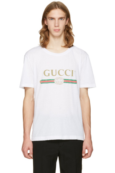 Gucci - White Logo T-Shirt