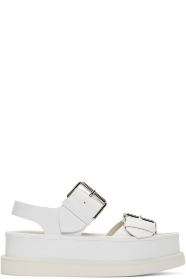 Stella McCartney - White Buckles Sandals