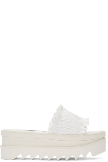 Stella McCartney - White Ruched Sandals
