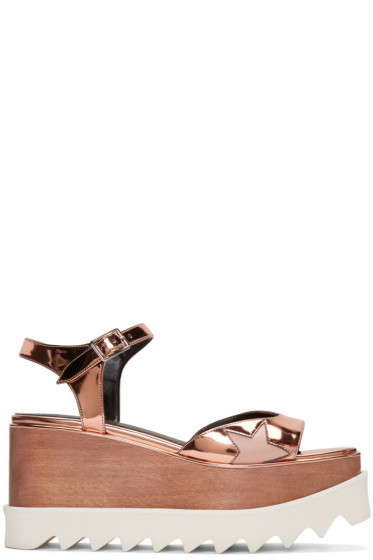 Stella McCartney - Copper Platform Star Elyse Sandals