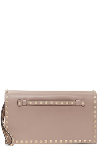Valentino - Pink Foldover Rockstud Clutch