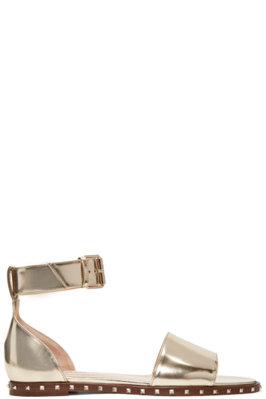 Valentino - Gold Patent Soul Stud Sandals