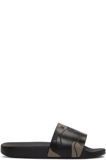 Valentino - Black Camo Sandals