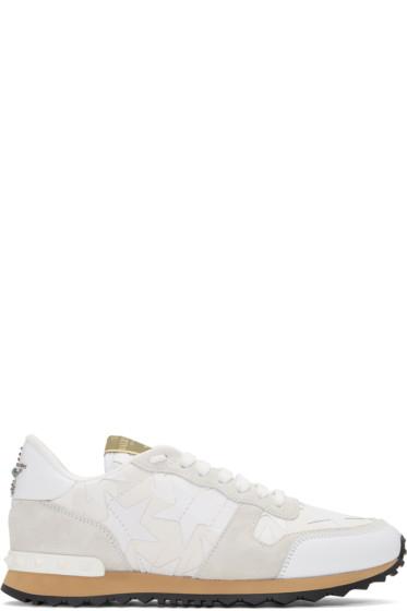 Valentino -  White Camo Rockrunner Sneakers