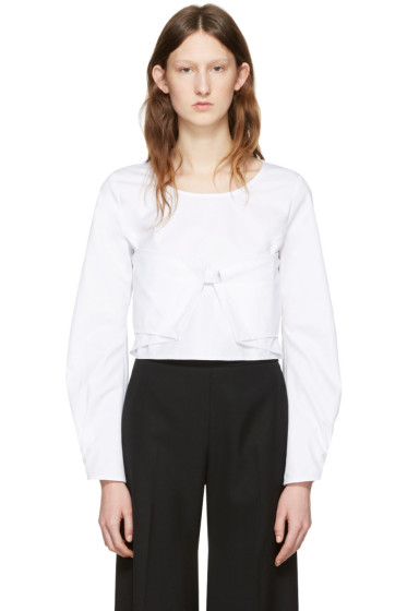 J.W.Anderson - White Cotton Panel Blouse