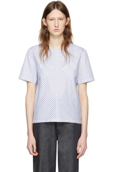 J.W.Anderson - Blue Striped Cotton Blouse