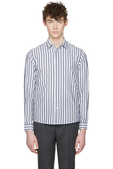 AMI Alexandre Mattiussi - Grey & White Classic Shirt