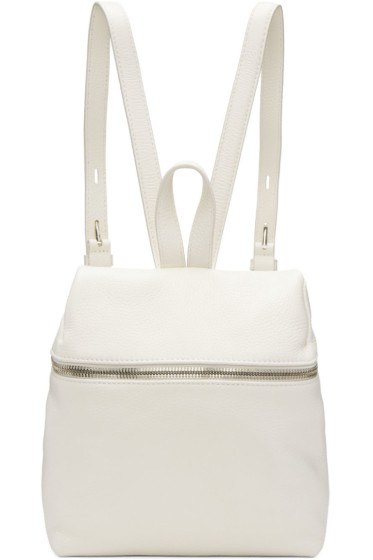 Kara - Off-White Small Leather Backpack