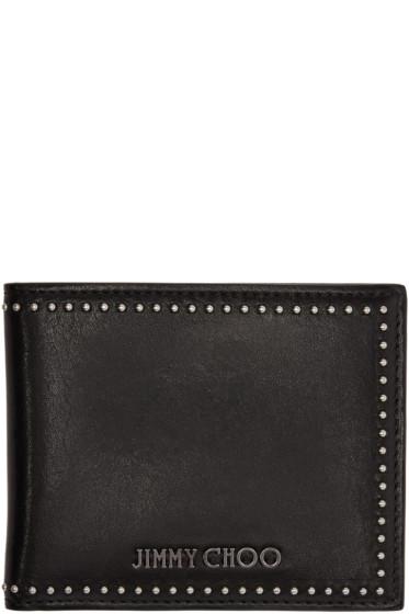 Jimmy Choo - Black Studded Mark Wallet