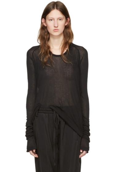 Haider Ackermann - Black Long Sleeve T-Shirt