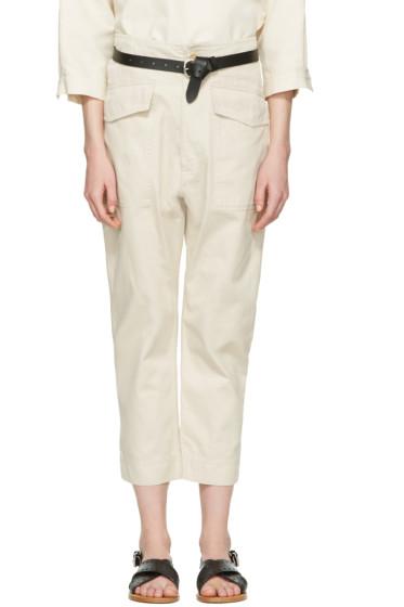 Isabel Marant Etoile - Ecru Oaklyn Pockets Trousers