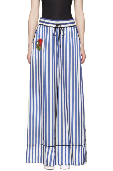 Off-White - Blue Striped Pyjama Trousers