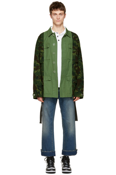 Off-White - Green Camouflage Field Jacket