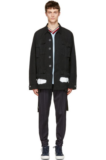 Off-White - Black Diagonal Spray Field Jacket
