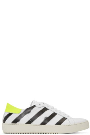 Off-White - White Spray Diagonal Sneakers