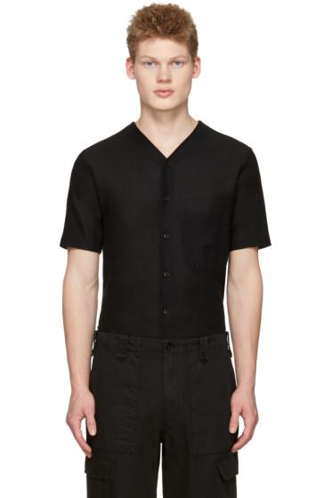 Lemaire - Black V-Neck Shirt