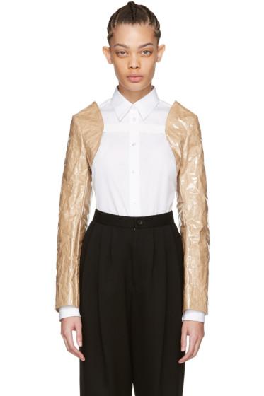 Comme des Garçons Comme des Garçons - Beige PVC & Paper Bolero Jacket
