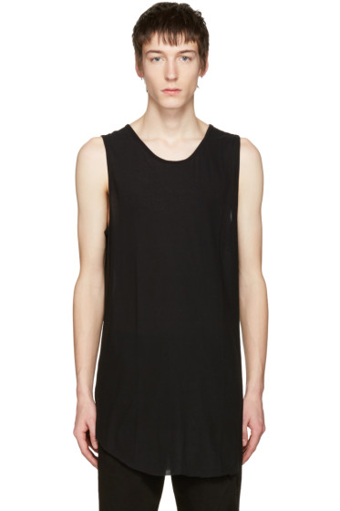 Song for the Mute - Black Mesh Jersey Tank Top