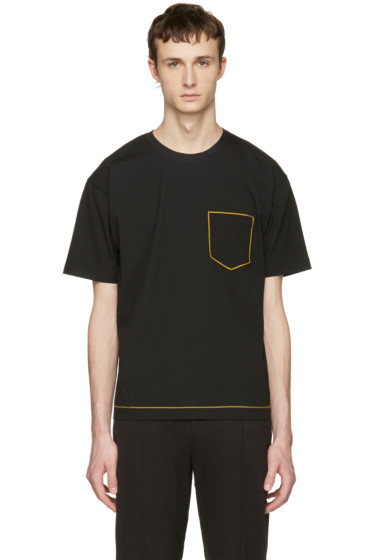 Wooyoungmi - Black Contrast Pocket T-Shirt