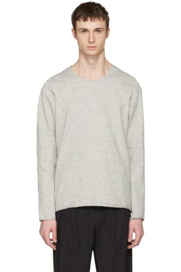 Attachment - Grey Raw Finish Pullover