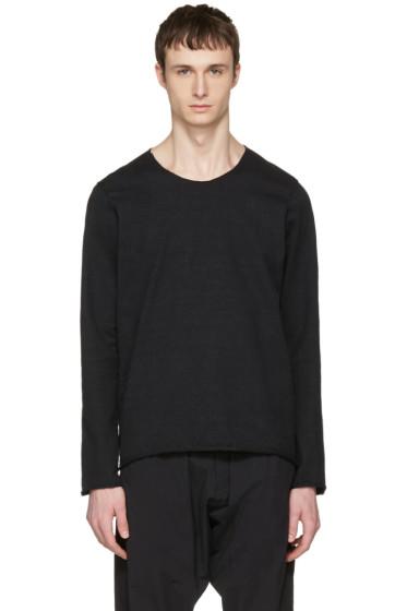 Attachment - Black Raw Finish Pullover