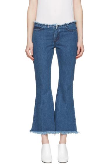 Marques Almeida - Blue Flared Capri Jeans
