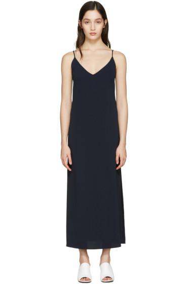 Atea Oceanie - Navy Long Slip Dress