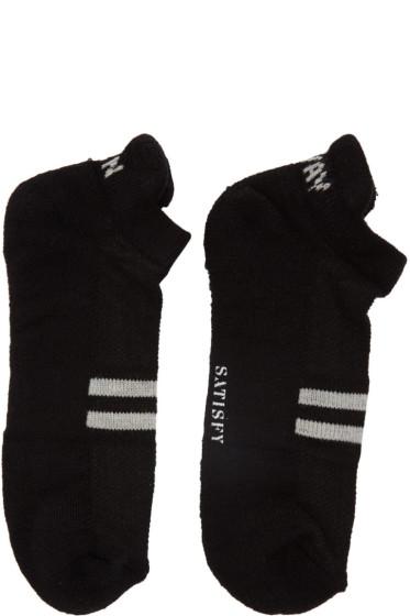 Satisfy - Black 'Run Away' Patchwork Low Socks