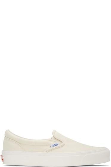Vans - Off-White OG Classic LX Slip-On Sneakers