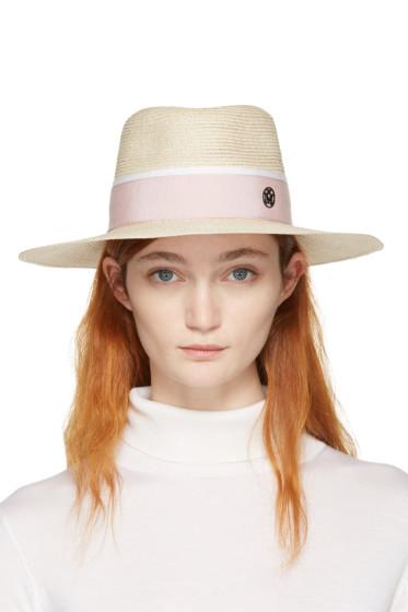 Maison Michel - Beige Straw Charles Panama Hat
