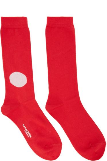 Blue Blue Japan - Red Japan Flag Socks