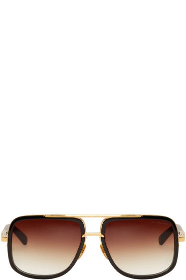 Dita - Black Mach-One Aviator Sunglasses