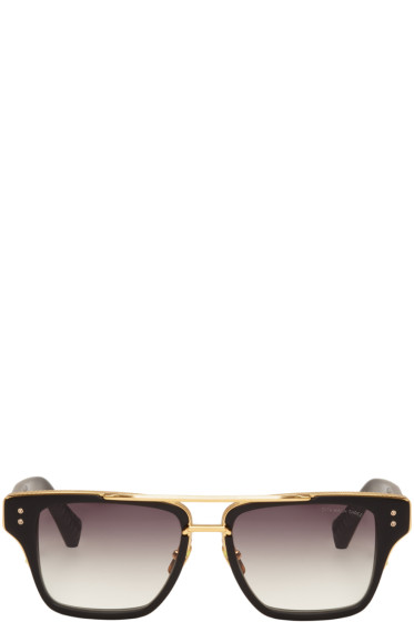 Dita - Black Mach-Three Aviator Sunglasses