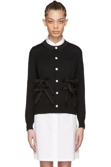 Tricot Comme des Garçons - Black Wool Bow Cardigan