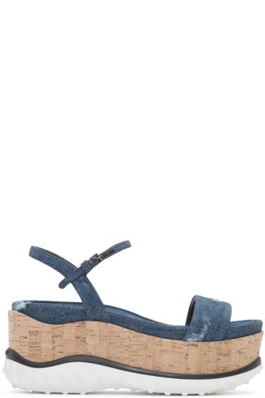 Miu Miu - Indigo Denim Platform Sandals