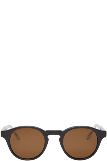 Bottega Veneta - Black Acetate Round Sunglasses