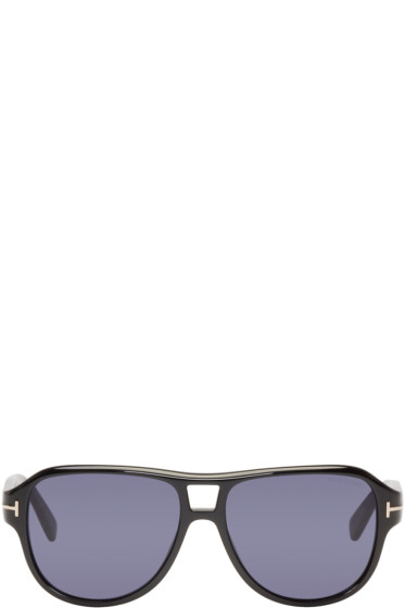Tom Ford - Black Dylan Aviator Sunglasses