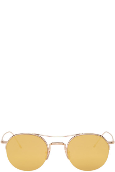 Thom Browne - Gold TB 903 Sunglasses