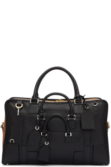 Loewe - Black & Tan Amazona Multiplication 44 Bag