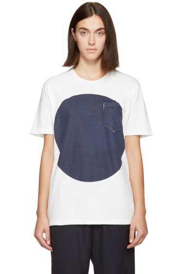 Blue Blue Japan - White & Indigo Flag T-Shirt