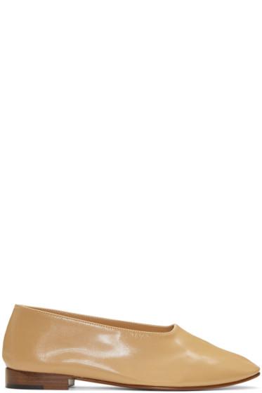 Martiniano - Beige Glove Ballerina Flats