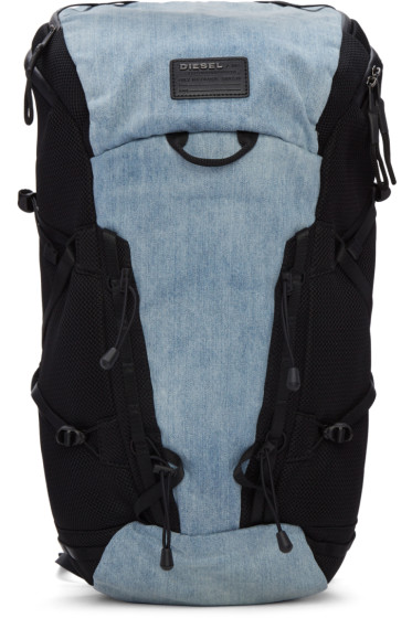 Diesel - Blue Denim D-Running Backpack