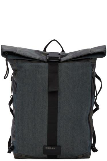 Diesel - Blue & Camo D-Running Roll Backpack